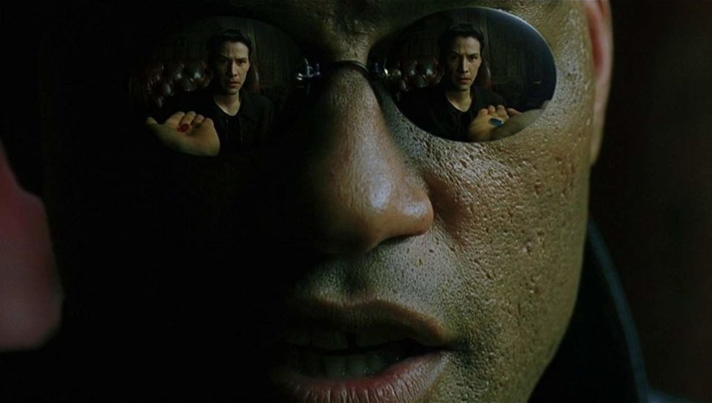 Morpheus Red Pill Blue Pill The Matrix Laurence Fishburne