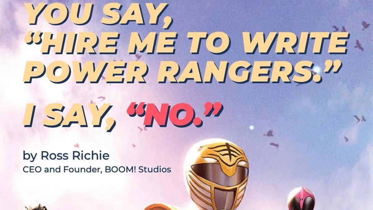Boom Studios' Ross Richie Rejects The Pleas Of Power Rangers Fans